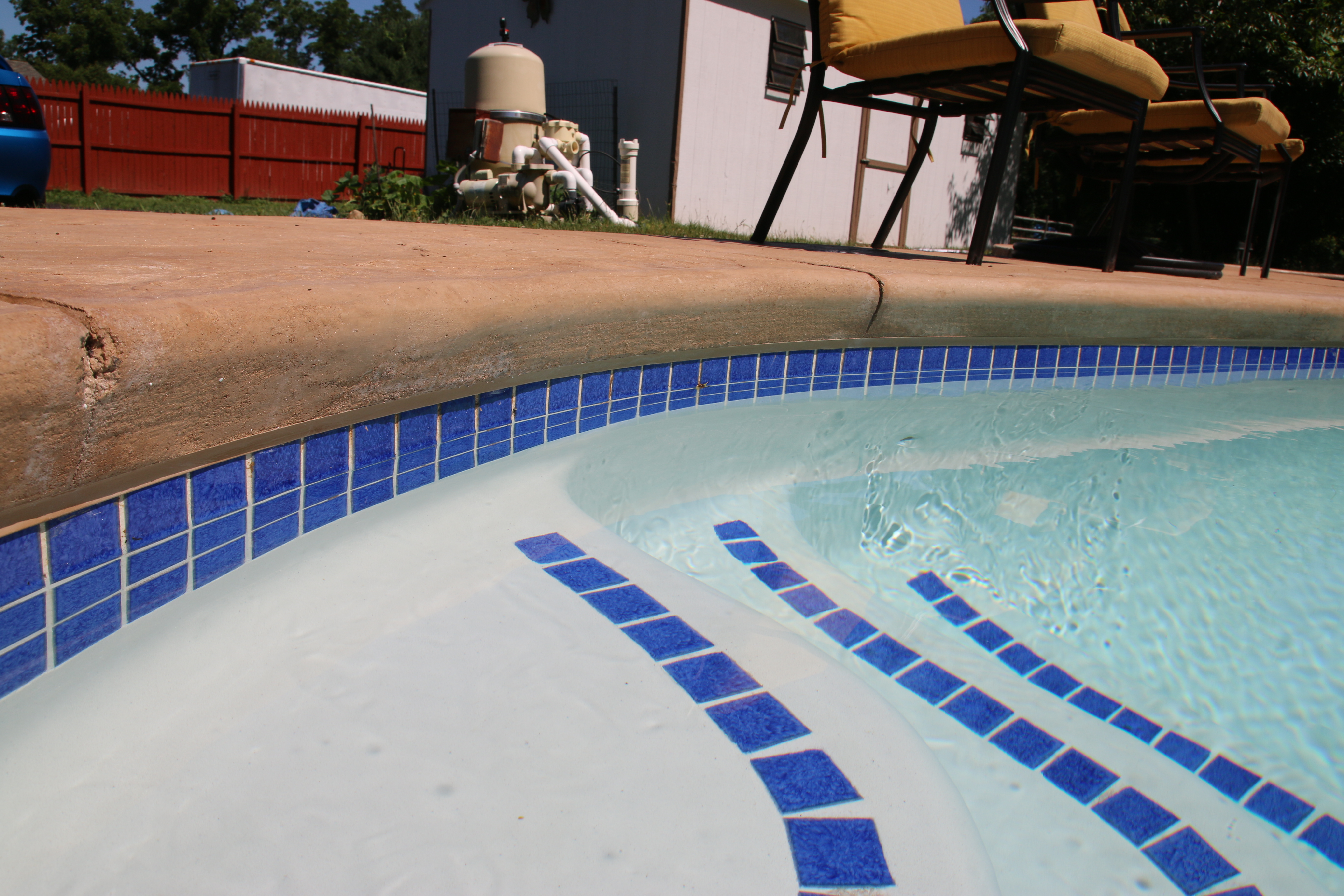 White Grey Pool Plaster Finish Norristown Pa Frog S